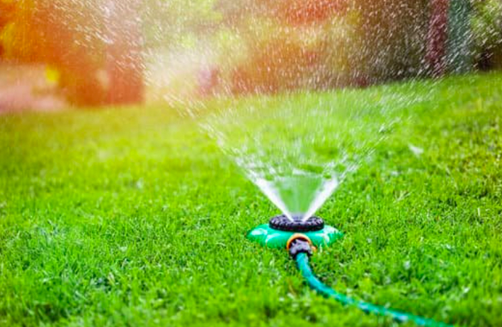 this image shows automatic sprinkler system in Chino Hills, California