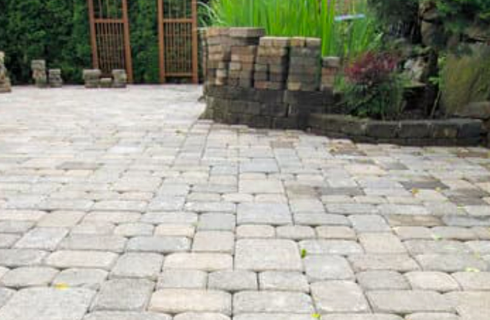 this image shows concrete/flagstone paving stones in Chino Hills, California