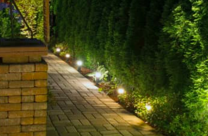 this image shows low voltage outdoor lighting in Chino Hills, California